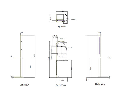 Technical drawings for furniture