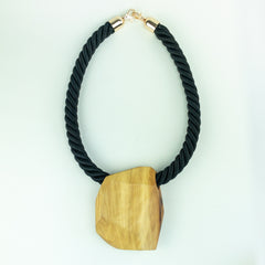 Wood Statement Necklace - Unisex