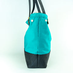 Canvas & Leather Tote Bag - Two Sizes