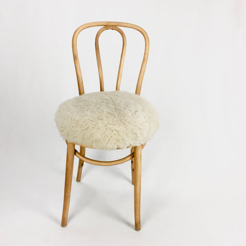 classic cafe chair with fun upholstery