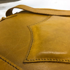 Leather & Lamb Handstitched Backpack