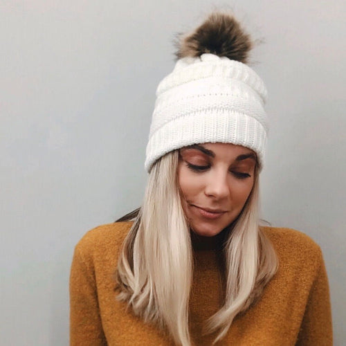 Cozy Winter White Hat