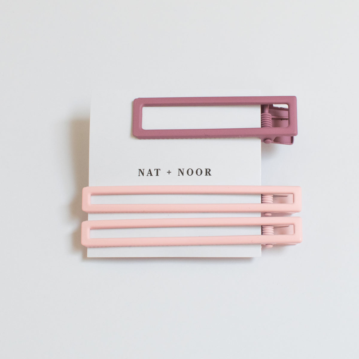 Yarrow Hair Clips in Pink Tones