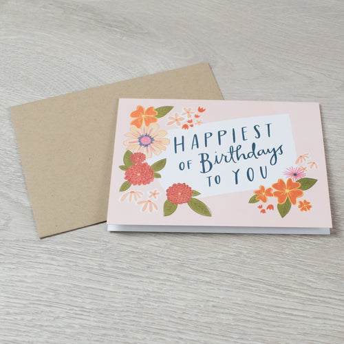 Simple Flowers Birthday card