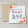 Punch Them sympathy card