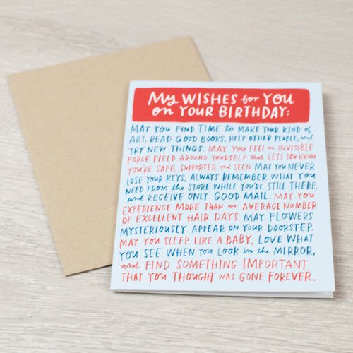 Wishes for Your BDay card