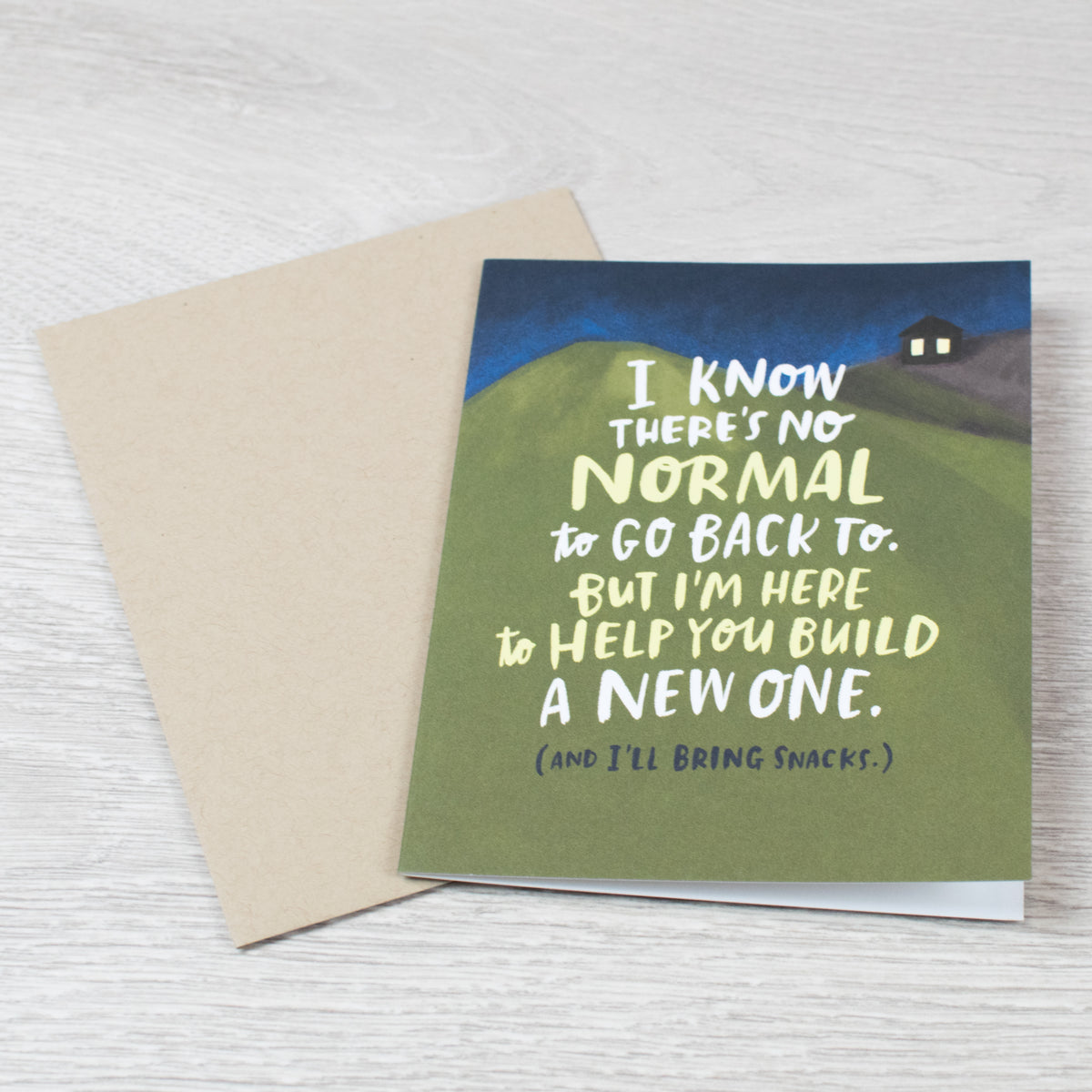 No Normal sympathy card