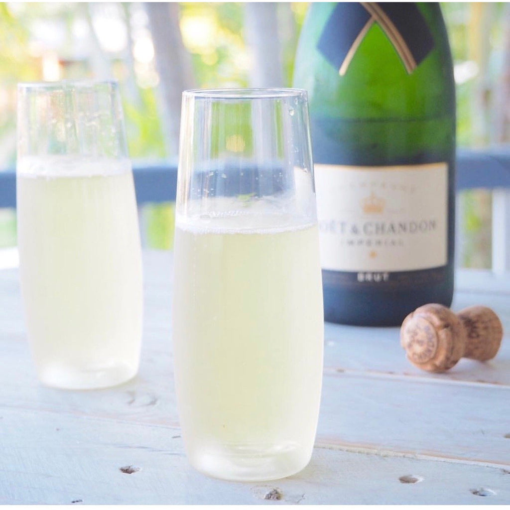 Sip bubbles stemless champagne flutes (4 pack)