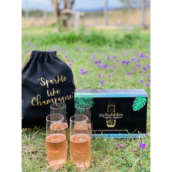 Sip bubbles stemless champagne flutes