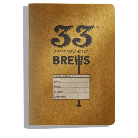 33 Brews: Homebrewing Log and Brew Journal