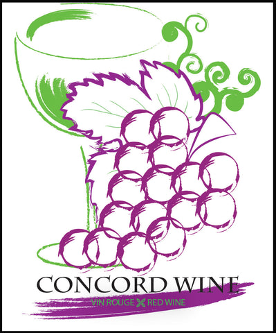 Concord Wine Label