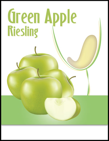 Green Apple Wine Label