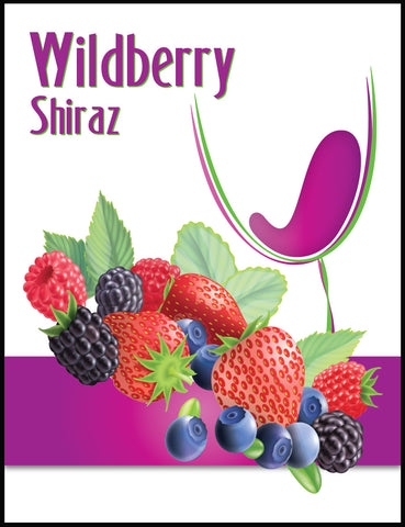 Wildberry Wine Label