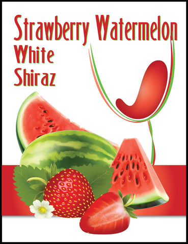 Strawberry Watermelon Wine Label
