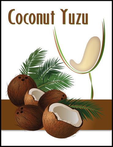 Coconut Yuzu Wine Label