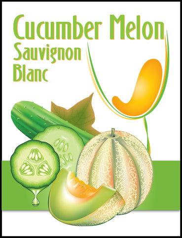 Cucumber Melon Wine Labels