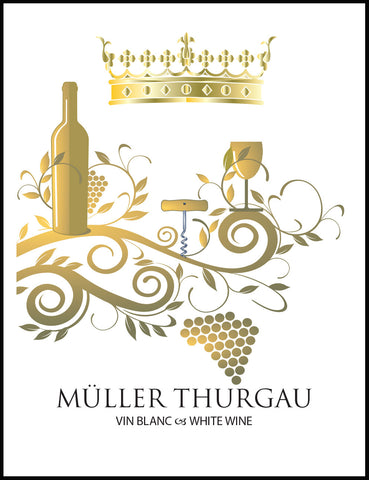 German Muller-Thurgau Wine Labels