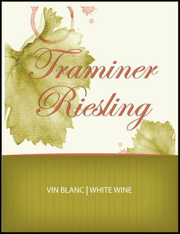 Traminer Riesling Wine Labels