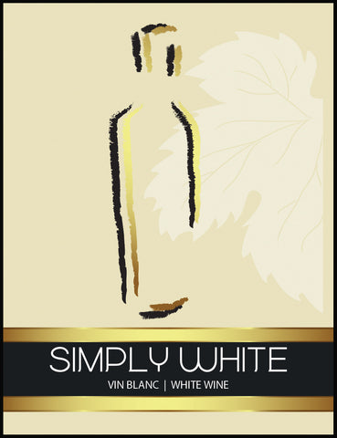 Simply White Wine Label