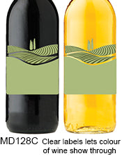 Rolling Hills Transparent 128 Custom Wine Labels Set of 30