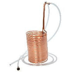 Copper Wort Chiller - 50 Ft w/Vinyl Tubing