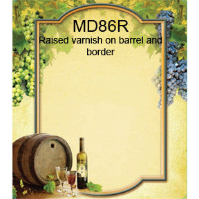 Grapes & Barrel 86 Custom Wine Labels Set of 30