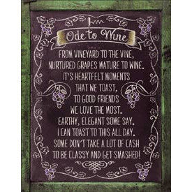 Ode to Wine Metal Sign