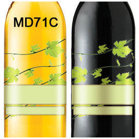 Vines Transparent 71 Custom Wine Labels Set of 30