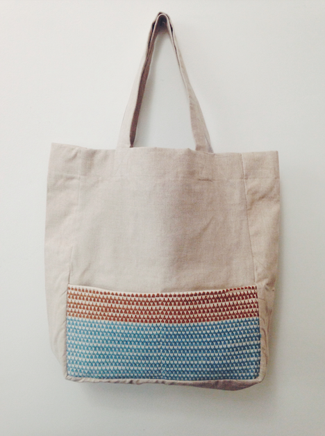 WOVE / Tote bag lin & tissage