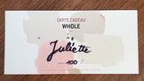 Carte cadeau WHOLE / gift card