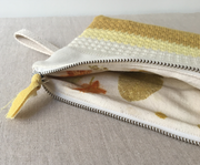 WIPE trousse zippée tricot main atelier / Zipped clutch