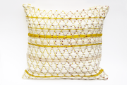 WIVO Grand coussin tissé main pièce unique / Handwoven big cushion one-of-a-kind