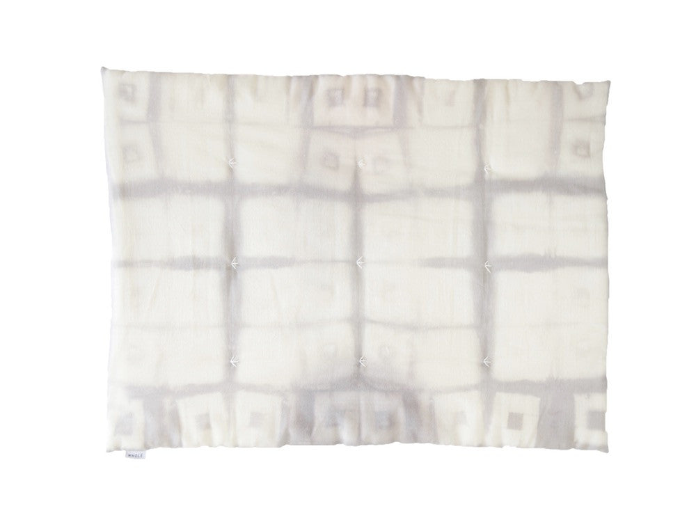 Edredon bébé MINI WAWA GREY SQUARE / baby duvet with grey squares pattern