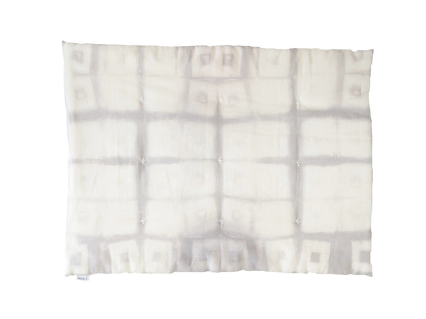 WAWA GREY SQUARE Edredon / kid duvet with grey squares pattern