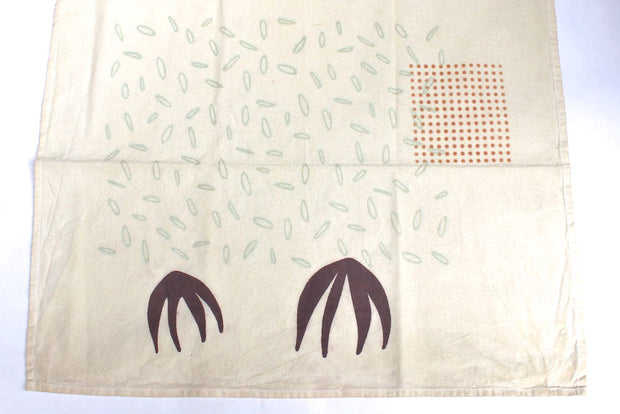WATE serviette/furoshiki coton recyclé sérigraphie / home recylced cotted towel