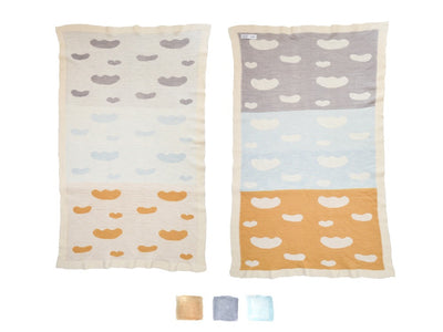 WACA clouds Couverture jacquard enfant / kid knitted blanket