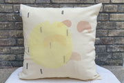 WAKÉ Coussin laine imprimé / Handprinted wool cushion