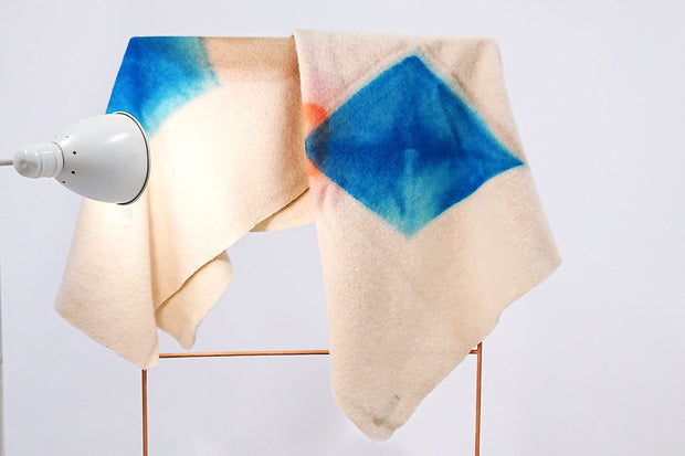 WAMI plaid aquarelle / watercolor virgin wool throw