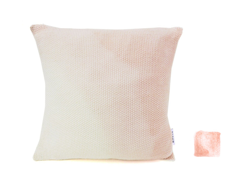 Coussin en laine merino tricotée WILO / knitted wool cushion