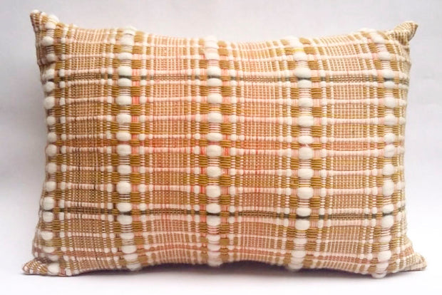 WIVA Grand coussin tissé main pièce unique / Handwoven big cushion one-of-a-kind