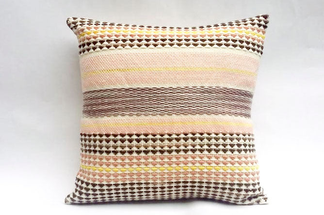 WIVY Grand coussin tissé main pièce unique / Handwoven big cushion one-of-a-kind