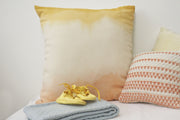 WOKO bicolore Grand coussin en crêpe de laine / big wool crepe cushion