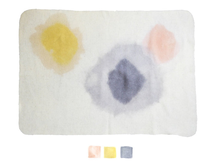 WUMI Couverture aquarelle enfant / kid watercolor virgin wool blanket