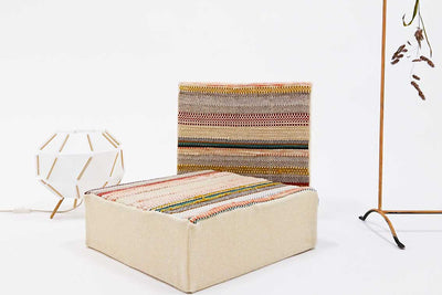 WOUF Pouf tissé main / Handwoven seat cushion