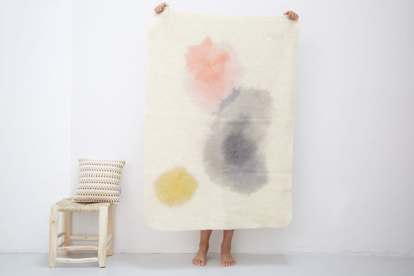 Couverture aquarelle enfant WUMI / kid watercolor virgin wool blanket