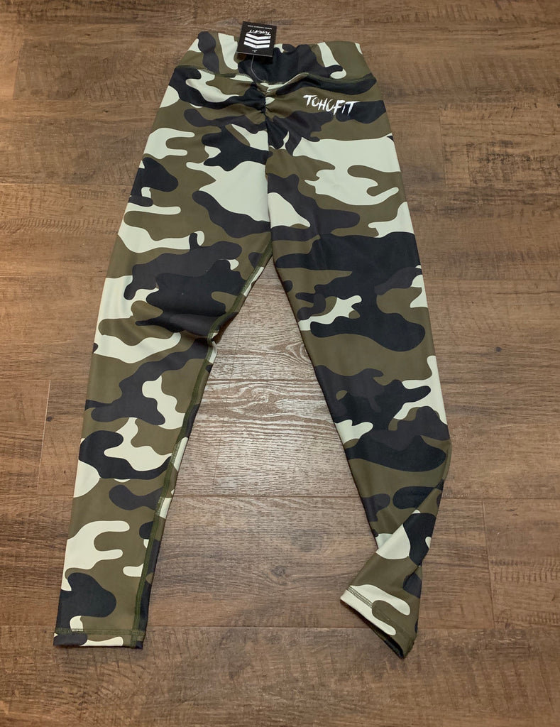 TohoFit V Cut Scrunch Leggings - Camo - TohoFit