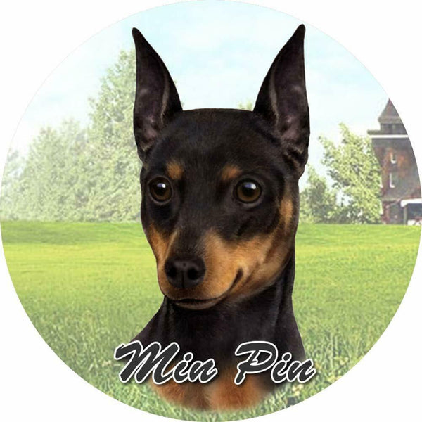 Miniature Pinscher Car Coaster