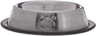Paws N' Claws, Small Metal Non-Skid Bowl