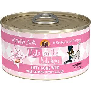 Weruva Cats In The Kitchen  Kitty Gone Wild Canned Wet Cat Food