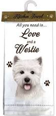 Westie Kitchen Towel